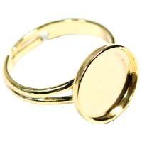 Prsten KRUH 12mm Zlato