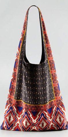 bohemian print bag