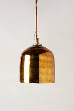 "Burnished Pendant Lamp - anthropologie.com: Dome: 8""H, 7.5"" diameter Cloche: 7""H, 6.25"" diameter Cone: 6.5""H, 7"" diameter $98"