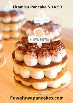 In the mood for some fluffy Japanese pancakes? Visit our Yonge and Eglinton location for souffle & Japanese pancakes handmade from delectable ingredients. Tiramisu Pancakes, Tiramisu Cake, Toronto Cafe, Fuwa Fuwa, Japanese Pancake, Fluffy Pancakes, Balanced Diet, Doughnut, Desserts