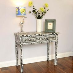 Mother-of-Pearl Inlay Console/Dressing Table