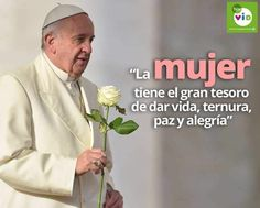 Papa Francisco Frases, Gods Love, My Love, Happy Everything, God Loves Me, Pope Francis, Cute Images, Word Of God, Pretty Woman