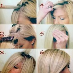 The Perfect Side Swept Bang