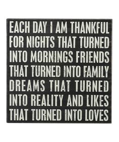 Primitives by Kathy I Am Thankful Box Sign