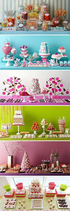 New Ideas party table layout dessert bars Party Decoration, Birthday Decorations, Wedding Table Layouts, Festa Party, Candy Table, Candy Buffet Tables, Bar Tables, Candy Party, Dessert Bars