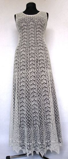 Hand knitted festive/ wedding dress