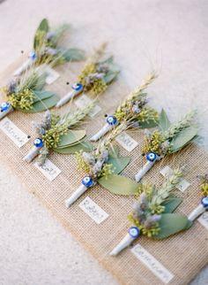 Unique boutonnieres: http://www.stylemepretty.com/north-carolina-weddings/asheville/2015/02/16/romantic-and-regal-biltmore-estate-wedding/ | Photography: Graham Terhune - http://www.grahamterhune.com/
