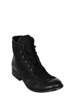 THE LAST CONSPIRACY - VEGETABLE DYED LEATHER BOOTS - LUISAVIAROMA