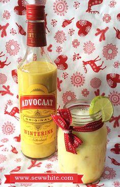 Sew White Christmas cocktails Aldi Advocaat snowball