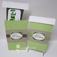 LeeAnn's Coffee Cup gift card holders are delightful! She has provided instructions.