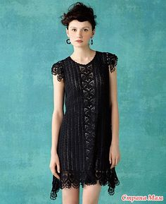 crochet dress with graphical pattern