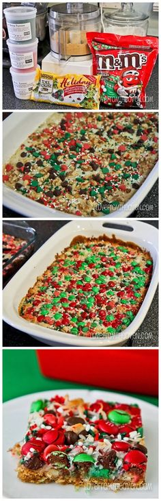 Christmas Magic Cookie Bars-- cool new twist