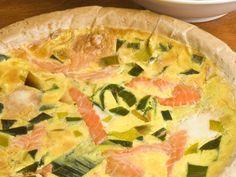 Quiche aux poireaux et saumon frais : Recette de Quiche aux poireaux et saumon frais - Marmiton