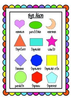 Nga Ahua Maori Words, Describing Words, Maori Art, Math Concepts, Preschool Printables, Early Childhood Education, Life Savers, Teaching Math, Pre School