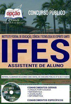 Apostila Concurso Ifes 2019 Assistente De Aluno Aluna