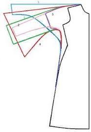 Resultado de imagem para modelagem cava manga raglan
