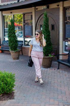Blush Pink Joggers f