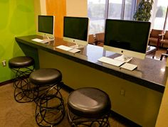 Do your homework, check your email, or play games on one of our three waiting room computers. Office Tour - Albuquerque Rio Rancho NM - Jorgensen Orthodontics #JorgensenOrtho #braces