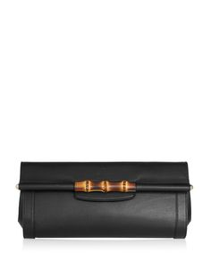 31% off - Gucci New Bullet leather & bamboo clutch bag, Designer Bags Sale, Gucci Bags , SECRETSALES