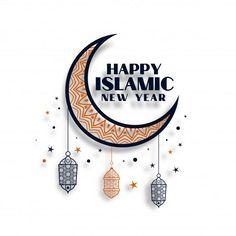 Muharram Wallpaper, Wallpaper Ramadhan, Hijri Year, Happy Islamic New Year, Happy Muharram, Eid Cards, Eid Mubarak Greetings, Cute Love Images, Anime Muslim