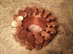 "Antique Benham & Froud VERY RARE ""Hearts"" No. 536 Copper Mold ❤ ❤ ❤"