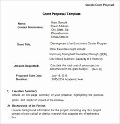 Grant Proposal Cover Page Fresh Free 17 Sample Grant Proposal Templates In Word Pdf Grant Proposal Writing, Grant Writing, Writing Tips, Event Proposal Template, Proposal Ideas, Free Grants, Proposal Letter, Lesson Plan Templates, Templates Free