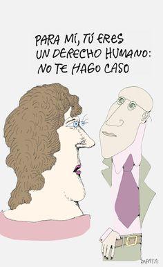Caricatura de Zapata sobre derechos humanos. Caracas, 03-03-2012 (PEDRO LEON ZAPATA / ARCHIVO EL NACIONAL).