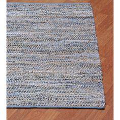 Blue Jeans Hand-woven Denim & Hemp Area Rug (9' x 12') - Overstock™ Shopping - Great Deals on 7x9 - 10x14 Rugs