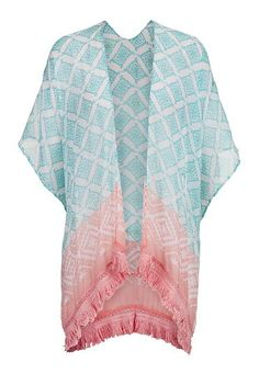 sea green combo metallic detail patterned scarf wrap (original price, $20) available at #Maurices