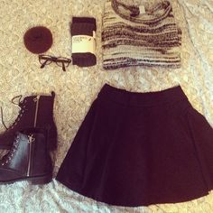 #fashion #skirt #90ies #grunge #girl #fashionable #fall # autumn