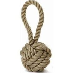 "A Super Durable and Long Lasting Woven Rope Ball will be a great toy for any Dog that love to play hard   Handle Tug feature is great for some rough fun!  Handle is Great for tossing around  Measures: 4.5""  Colors May Vary.  WaggMore recommends supervising your pet while he or she is playing with any toy."