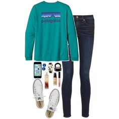 Patagonia by kaley-ii on Polyvore featuring rag & bone, Converse, Whimsical Watches, Kenneth Cole, Patagonia, MAC Cosmetics, Bourjois and NARS Cosmetics