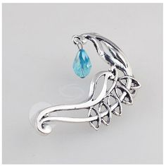 Unique #crystal #earhook