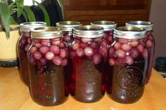 Canning Grape Juice ~ had a friend post that they did the exact same thing with cranberries!