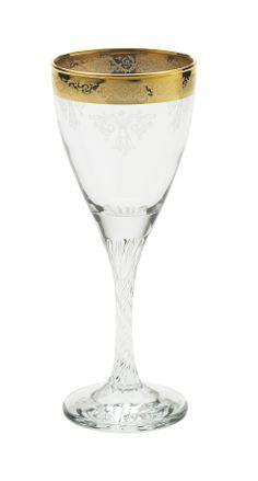 """""""Twist"""" White wine glass by Lisbeth Dahl Copenhagen Autumn/Winter 13. #LisbethDahlCph #Winter #Twist #Gold #Red #Wine #Glass #Kitchen"""