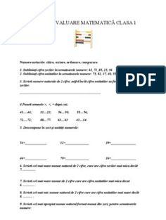FISE EVALUARE INITIALA CLASA I Literatura, Chemistry