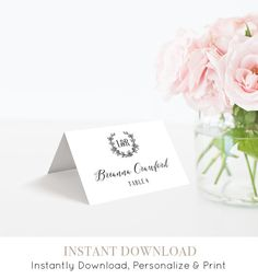 Hey, I found this really awesome Etsy listing at https://www.etsy.com/listing/272216572/wedding-escort-card-template-printable