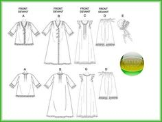 Butterick 5061 Victorian Nightgown Robe Jacket & Hat Patterns