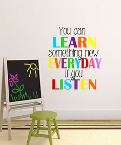 Look at this 'You Can Learn Something New' Wall Decal on #zulily today!