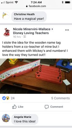 Mickey Mouse Classroom, Love Teacher, Wooden Names, Name Tags, Disney Love, Name Labels, Name Badges