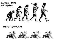 Image result for evolution of women vs men