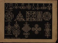 Hungarian folk art / braid or soutache patterns-or wool embroidery possibly--