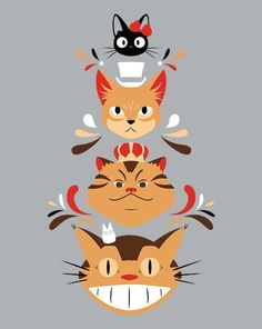 Studio Kitty T-Shirt | Studio Ghibli cat tee from ShirtPunch today only and only $10