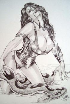 Serpent Girl Comic Art