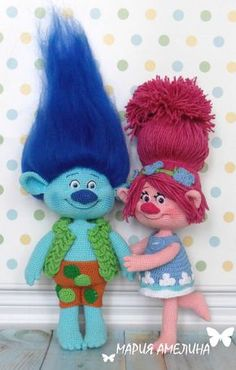 Trolls crochet plushes