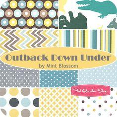 Outback Down Under Fat Quarter Bundle Mint Blossom for Northcott Fabrics - Fat Quarter Shop