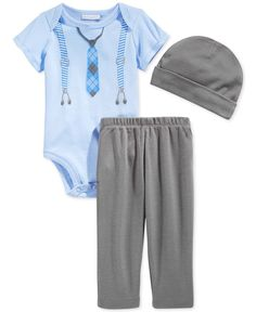 First Impressions Baby Boys' 3-Piece Hat, Bodysuit & Pants Set, Only at Macy's