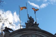 La bandera espanyola del TSJC es fa malbé