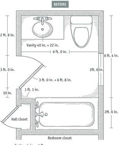 Small Bathroom Remodel Floor Plans small bathroom floor plans with both tub and shower | blueprint