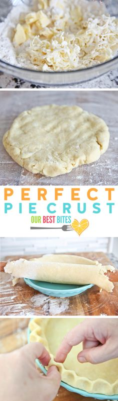 The BEST no-fail pie crust that turns out flaky and tender every time! From OurBestBites.com